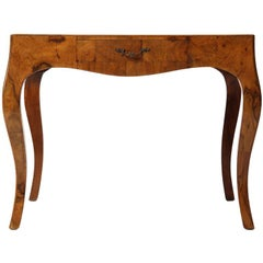 Burled End Table with Drawer
