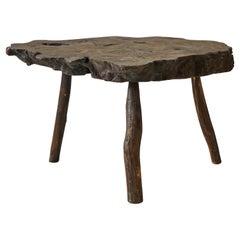 Burled Three-Legged Rustic Root Table