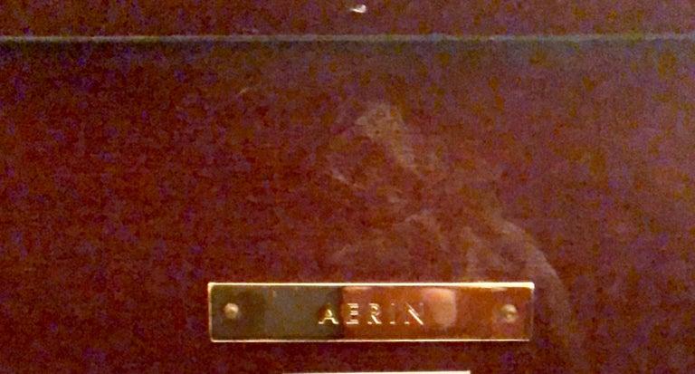 Burled Walnut Art Deco Inspired Lauder Alcott Dining Table For Sale 9