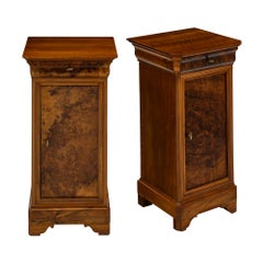 Burled Walnut French Antique Side Tables