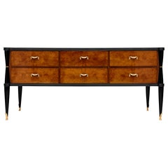 Burled Walnut Italian Chest of Drawers