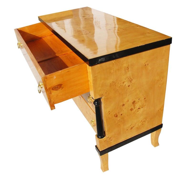 European Burled Wood Art Deco Style Dresser For Sale