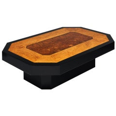 Burled Wood Italian Coffee Table