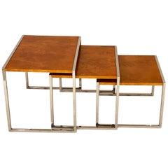 Burled Wood Nesting Tables