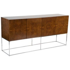 Burled Wood Sideboard by Milo Baughman