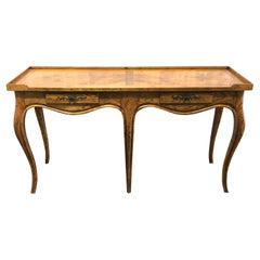 Burlwood Country French Console by Baker Furniture Company