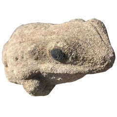 Burly Old Japanese Stone Frog Brings Joy to Your Heart, Garden and Soul