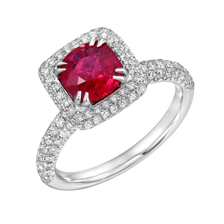 Burma Ruby Ring 1.28 Carats In New Condition For Sale In Beverly Hills, CA