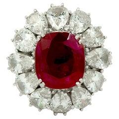 Burma Ruby, Diamond Gold Ring