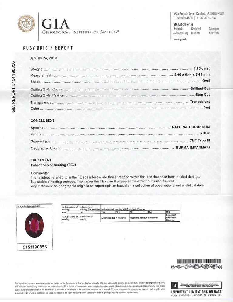 Oval Cut Burma Ruby Earrings 3.51 Carat GIA Certified For Sale