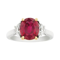 Burma Ruby Ring, 3.02 Carats