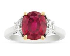 Burma Ruby Ring, 3.02 Carat