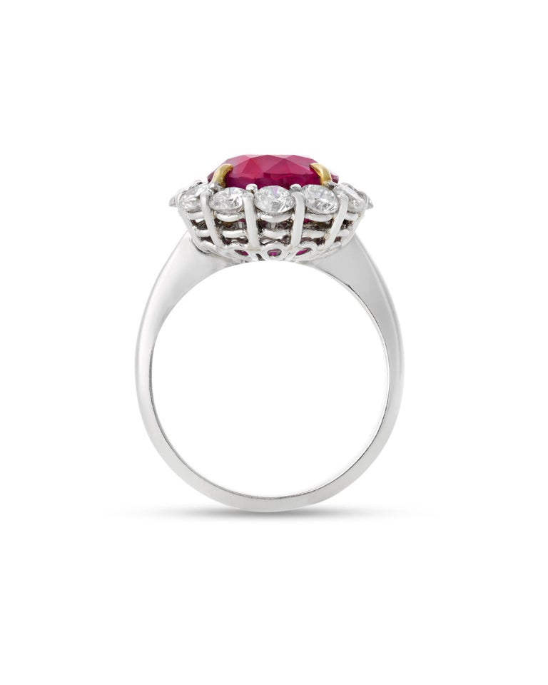 Modern Burma Ruby Ring, 5.25 Carats For Sale