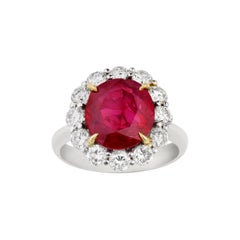 Burma Ruby Ring, 5.25 Carats