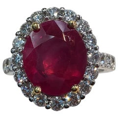Burma Ruby Ring with Diamonds