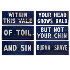 Burma Shave Roadside Signs