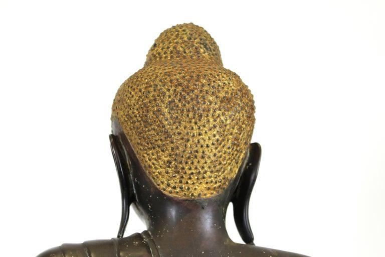 Burmese Bronze Buddha Sculpture For Sale 6