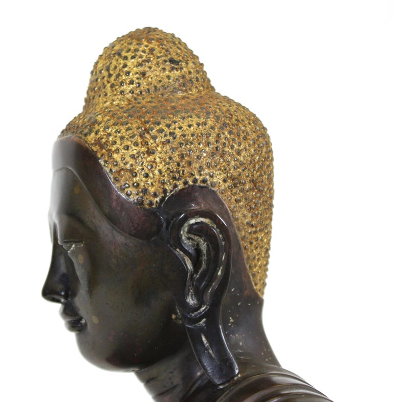 Burmese Bronze Buddha Sculpture For Sale 8