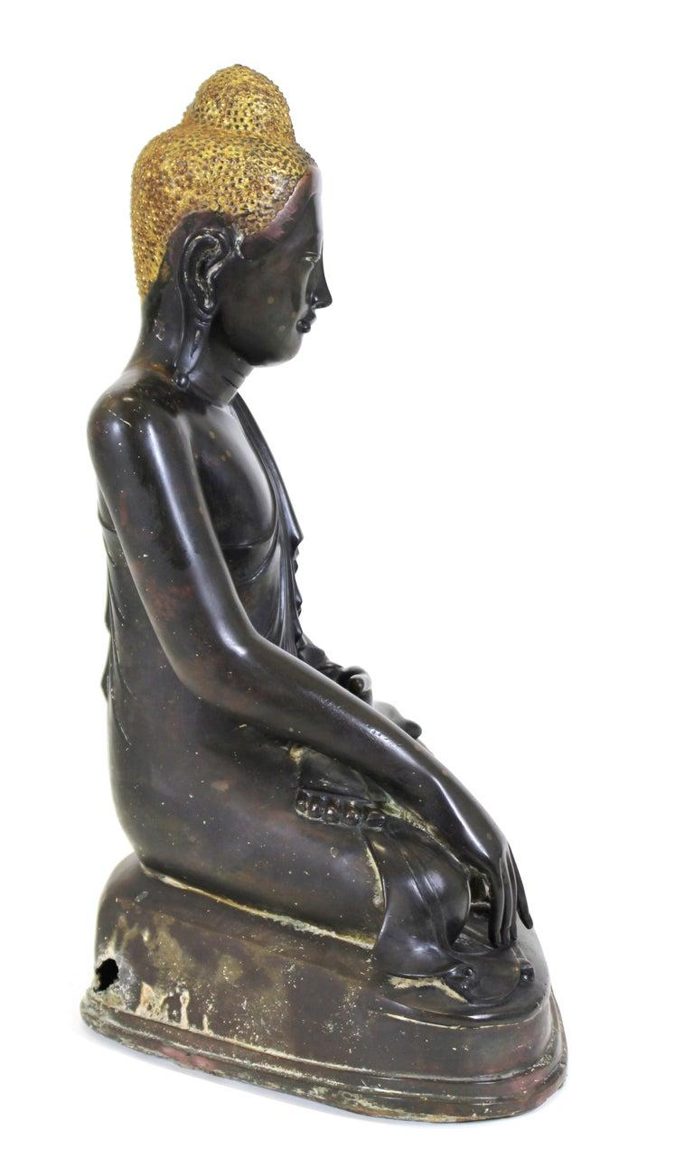 Burmese Bronze Buddha Sculpture For Sale 3