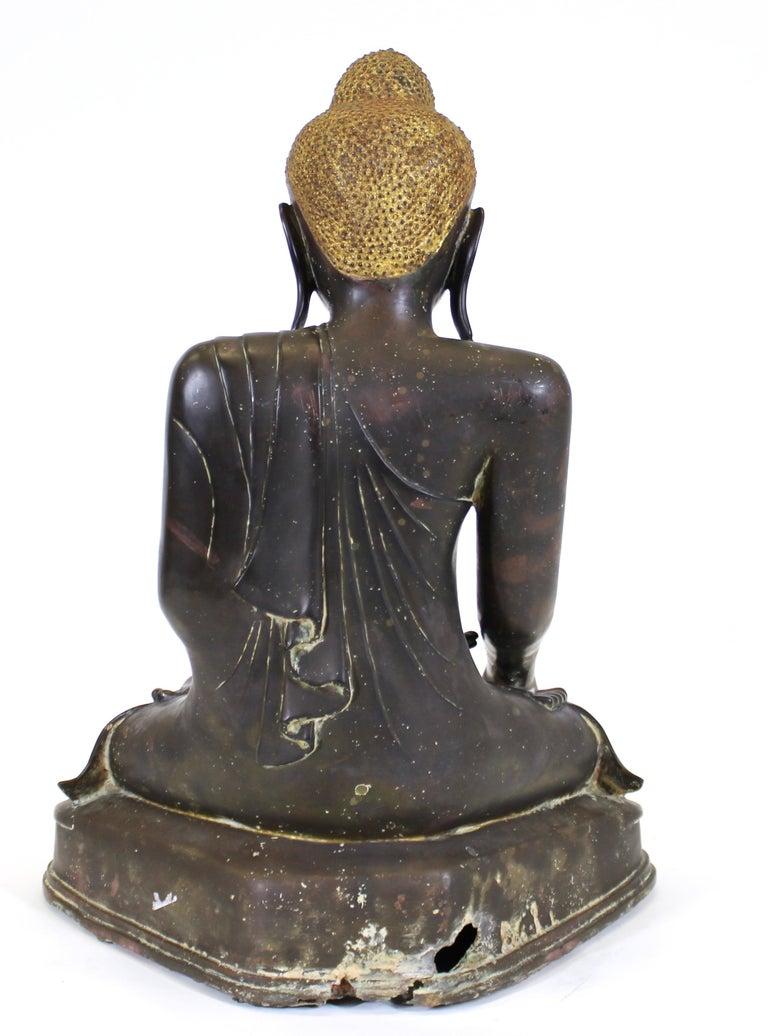 Burmese Bronze Buddha Sculpture For Sale 4