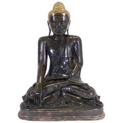 Burmese Bronze Buddha Sculpture