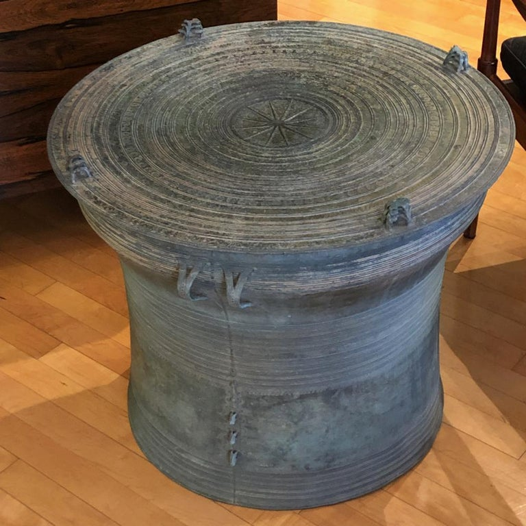 Burmese Bronze Karen Frog Rain Drum For Sale 6