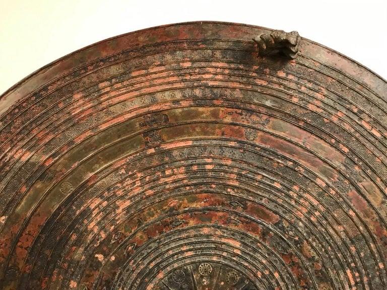 Burmese Bronze Rain Drum Side Table For Sale 8