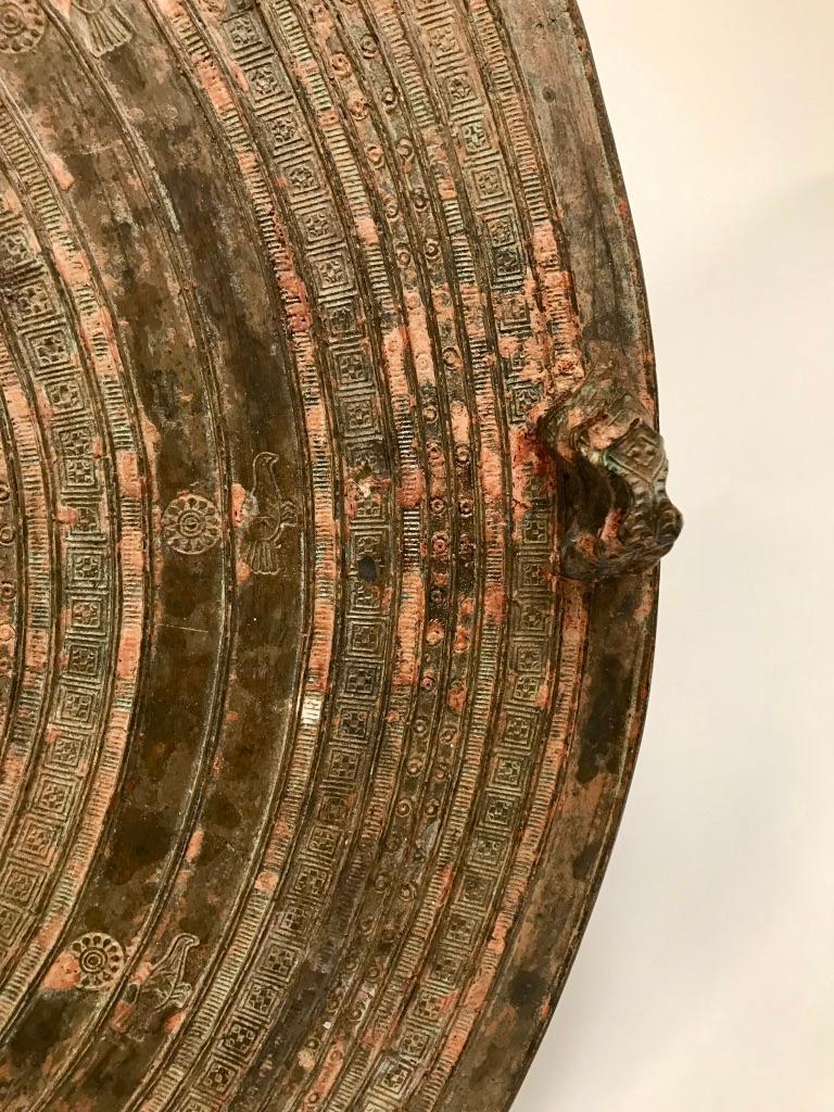 Burmese Bronze Rain Drum Side table For Sale 11