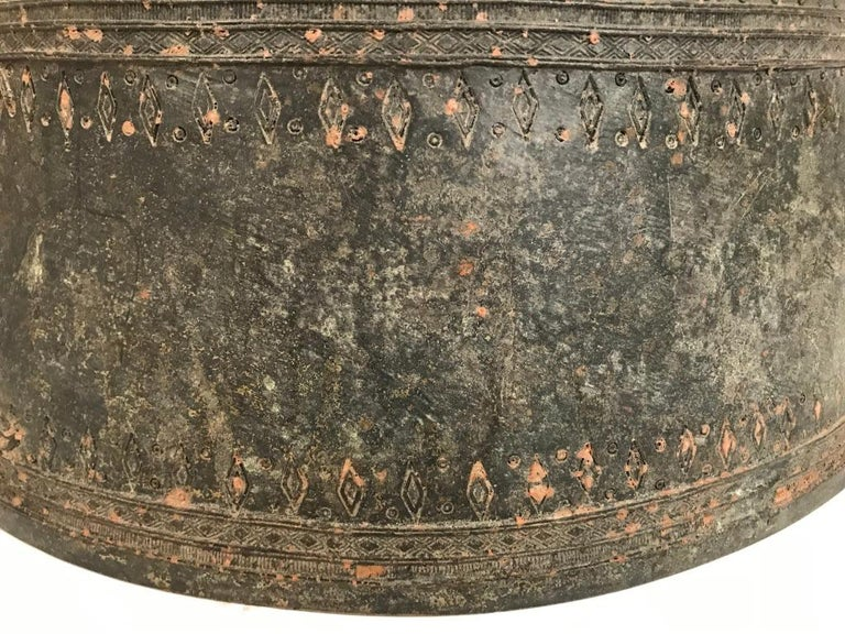 Burmese Bronze Rain Drum Side table For Sale 2