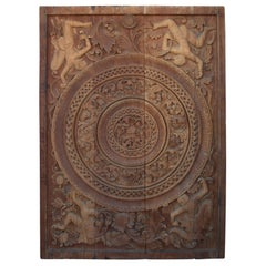 Carved Ceiling Panel, Mandalay, Burma, Ca 19th Century