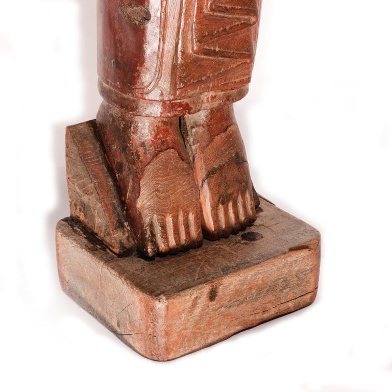 Burmese Carved Wood Hermit Sumedha Buddhist Image, 19th Century For Sale 6