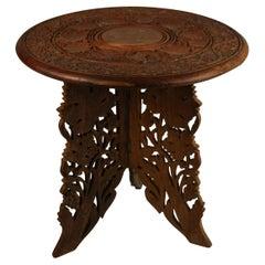 Burmese Carved wood Side Table