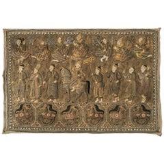 Burmese Kalaga Tapestry Representing a Royal Procession, circa 1900