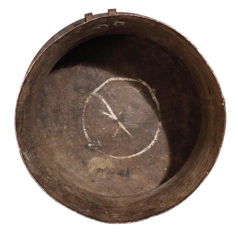 19th Century Burmese Karen Bronze Frog Drum For Sale