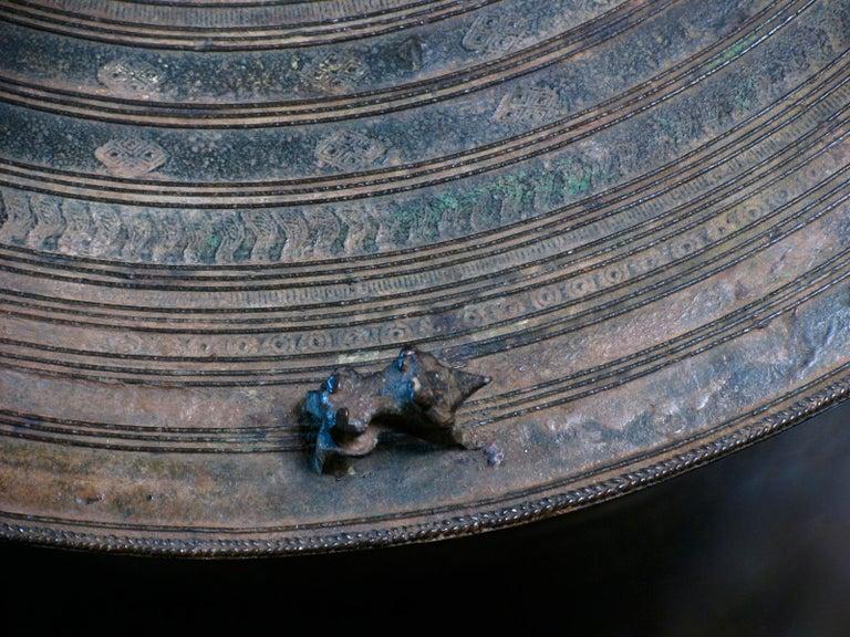 Burmese Karen Bronze Frog Drum For Sale 6