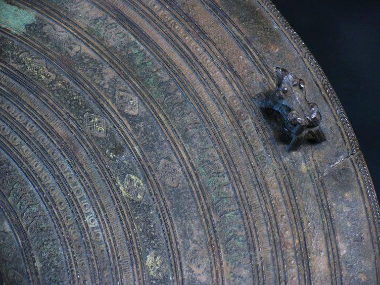 Burmese Karen Bronze Frog Drum For Sale 7