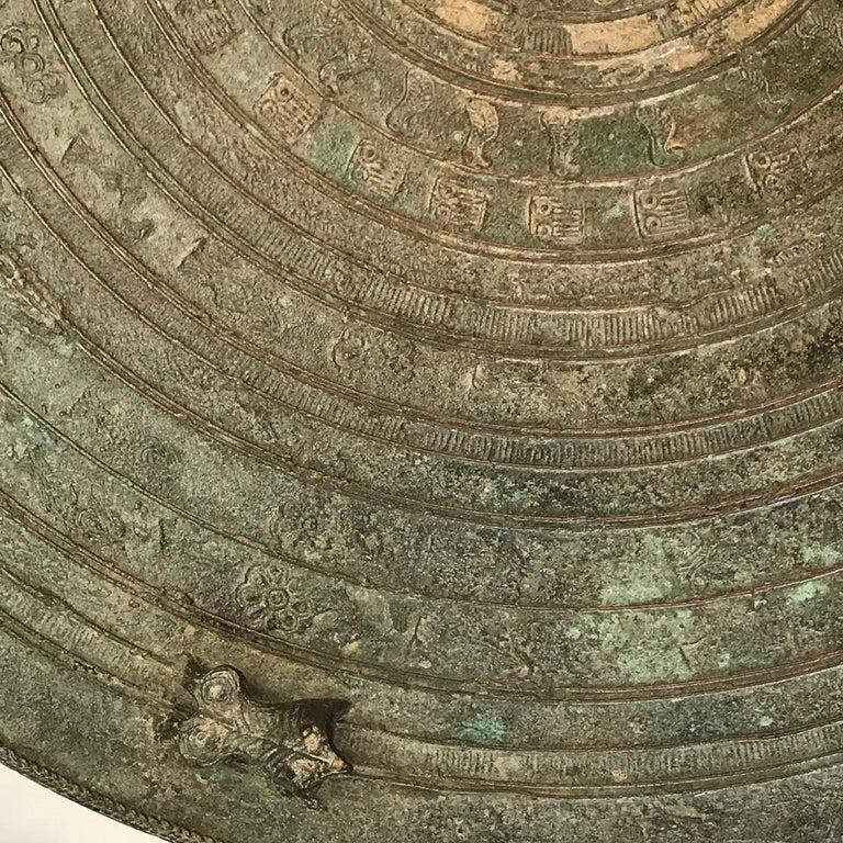 Burmese Karen Bronze Frog Drum For Sale 3