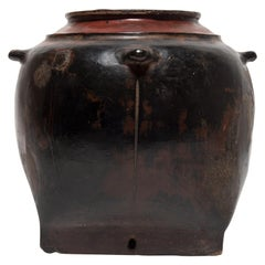 Burmese Lacquered Storage Vessel