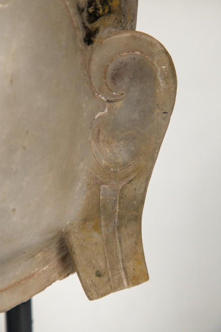 Burmese Marble Head of the Buddha For Sale 3