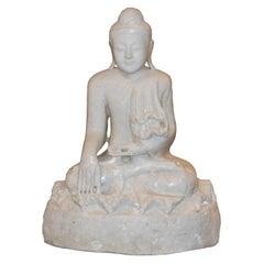 Burmese Marble Sitting Buddha