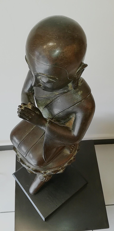 Burmese Monk in Bronze, 18th Century For Sale 14