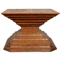Burmese Pagan Dynasty Style Pyramid-Shaped Lacquered Console Table