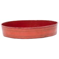 Burmese Red Lacquer Tray, circa 1900