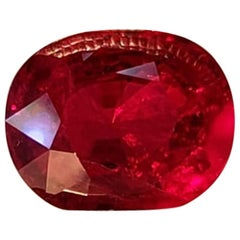 Burmese Ruby 4.05 Carat Pigeon Blood Color by Takat