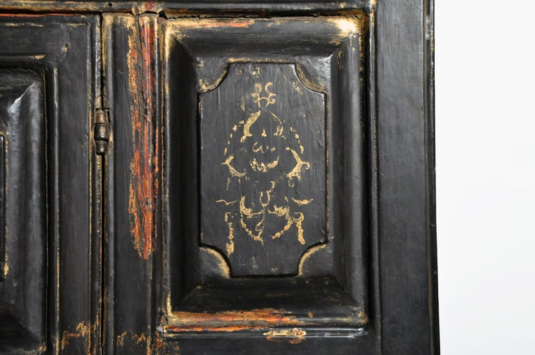 Burmese Temple Manuscript Cabinet with Original Patina For Sale 7
