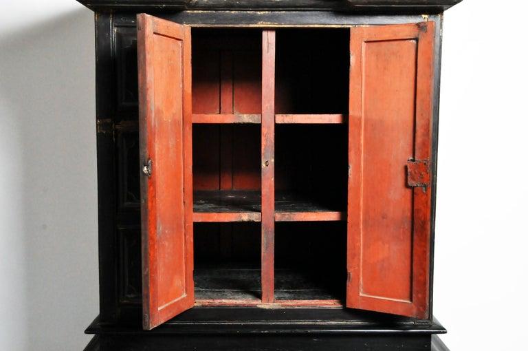 Burmese Temple Manuscript Cabinet with Original Patina For Sale 8