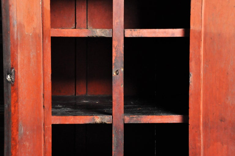 Burmese Temple Manuscript Cabinet with Original Patina For Sale 9