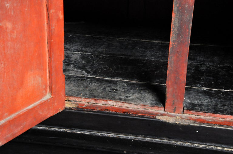 Burmese Temple Manuscript Cabinet with Original Patina For Sale 10