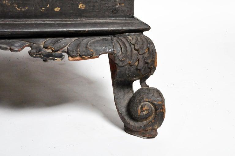 Burmese Temple Manuscript Cabinet with Original Patina For Sale 11
