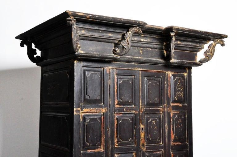 Burmese Temple Manuscript Cabinet with Original Patina For Sale 14